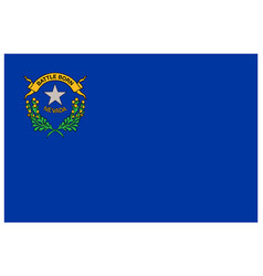 Accurate correct nevada nv state flag vector