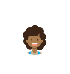 african children face happy girl portrait on white vector image