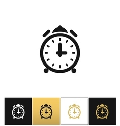 Alarm clock with bells icon vector image