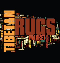 Are tibetan rugs popular text background word vector