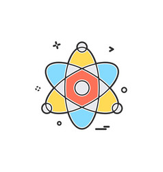 atom chemistry physics science icon design vector image