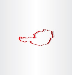 Austria stylized map icon vector