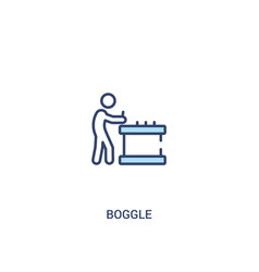 Boggle concept 2 colored icon simple line element vector