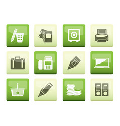 Business office and finance icons vector