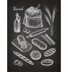 Chalk sketch breads vector