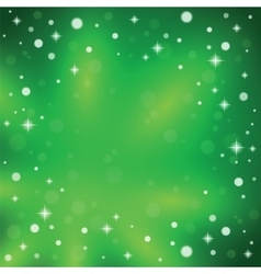 Christmas snowflakes on a green background vector