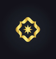 Circle star gold logo vector