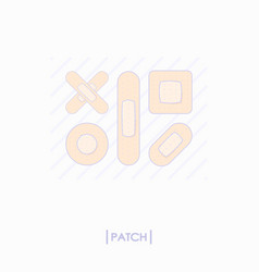 Collection of different patch icons vector
