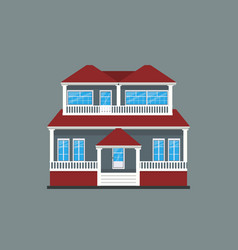 colorful flat residential house or town house vector image