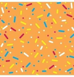 Colorful Sprinkles Donut Glaze Seamless Pattern vector image
