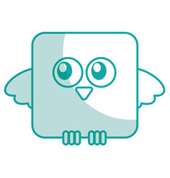 Cute bird expression comic vector