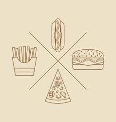 Design elements for Logo of Fast Food vector image