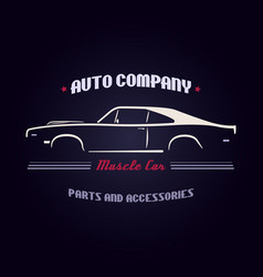 Design muscle car silhouette vector