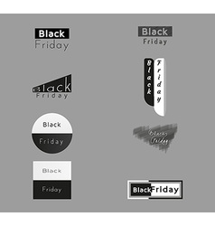 Different trade icons for black friday vector