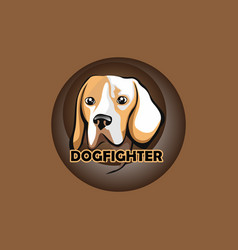 dog fighter vector image