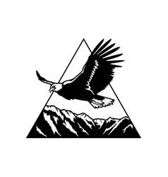 Eagle flight - mountain landscape wildlife vector