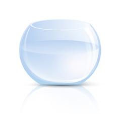 Empty Glass Vase or Round Aquarium vector