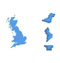 england isometric map country isolated on a vector image