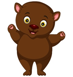 Fat brown bear cartoon vector