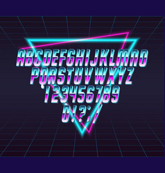 Font style 80 s vector