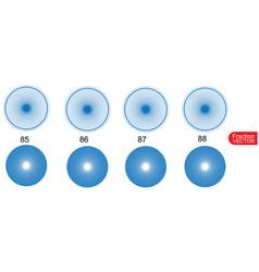 Fraction for education on white background vector