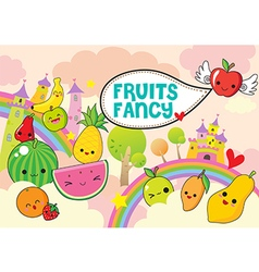 Fruits Fancy vector image