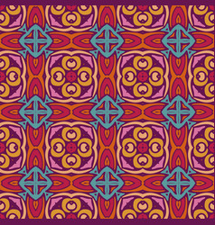 geometric ethnic pattern for fabric vector image