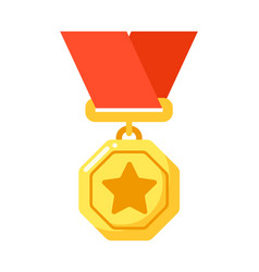 golden star badge to awarding for achievement vector image
