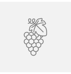 Grape line icon vector image