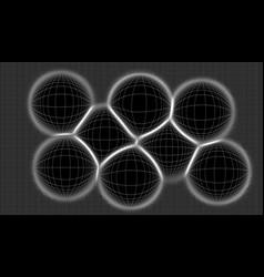 grid of lines curved in the vector image