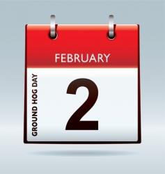 ground hog day calendar vector image vector image