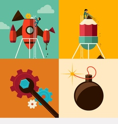 Growth and Development and Launch a Innovation vector image
