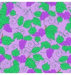 Hand drawn grapes seamless pattern background vector image