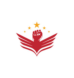Hand strong icon vector