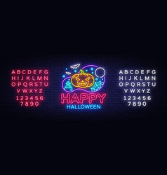 happy halloween party design template vector image