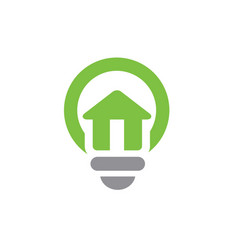 house symbol combined with light bulb vector image