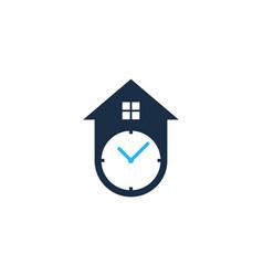 house time logo icon design vector image