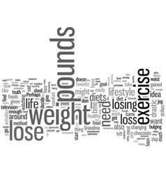 How to change your lifestyle to lose pounds vector