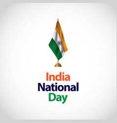 India national day template design vector