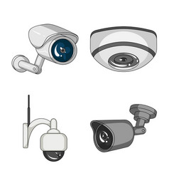 Isolated object of cctv and camera symbol vector