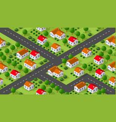 isometrics village seamless vector image