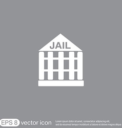 jail prison icon symbol of justice police icon vector image