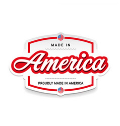 made in america sign lettering vintage vector image