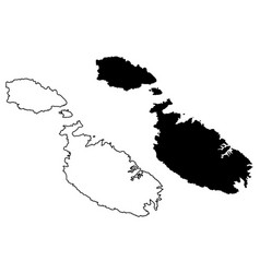 Malta island map vector