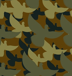 Military camouflage Pigeons Birds Protective vector image
