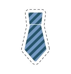 Necktie elegant father day cut line vector