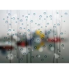 Rain drops city vector