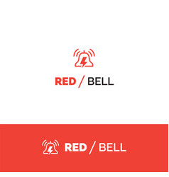 red bell alert and notification logo vector image