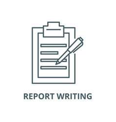 report writing line icon linear concept vector image