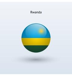 Rwanda round flag vector